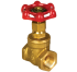 "Brass Gate Valve 1/2 "" 125 PSI (Yuta)"