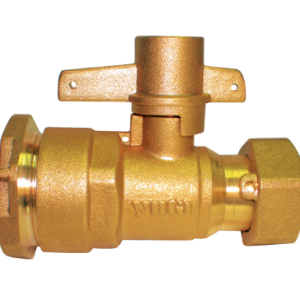 """Brass lockable-straight-valve 1/2 """" 125 Psi ( Yuta)"""