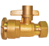 "Brass lockable-straight-valve 1/2 "" 125 Psi ( Yuta)"
